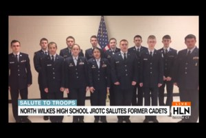 North Wilkes High's JROTC students