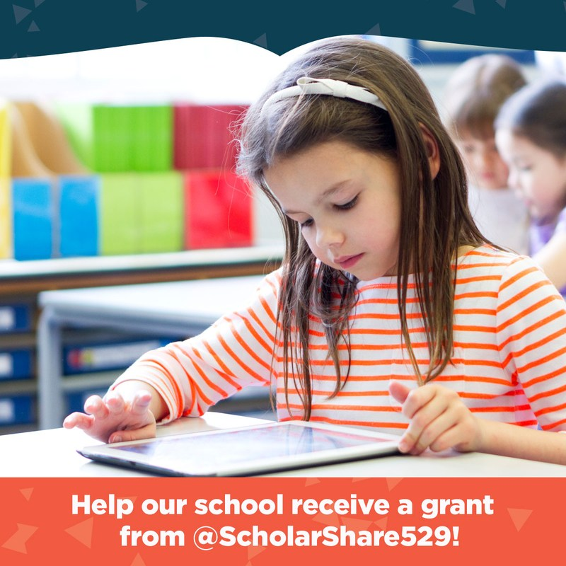 Help our school receive a grant from @ScholarShare529