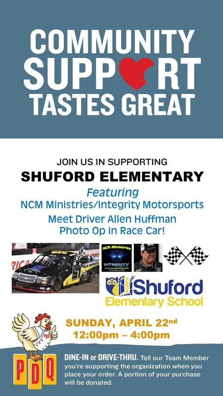PDQ fund raiser allen huffman race car driver