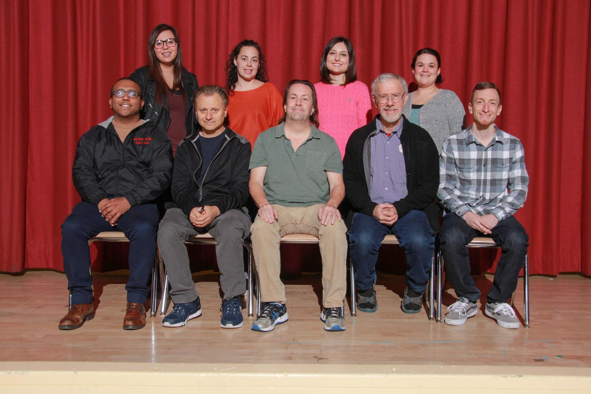 Several members of the 2017-2018 Social Studies Department