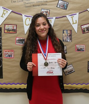 AHS junior Alyssa Gonzales qualified to compete at the FCCLA state competition in April.
