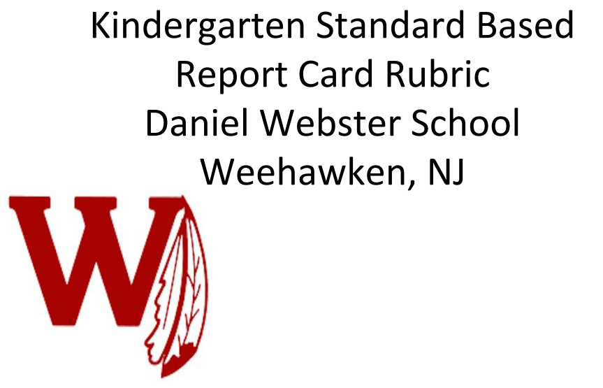 Kindergarten Standards Based Report Card Rubric