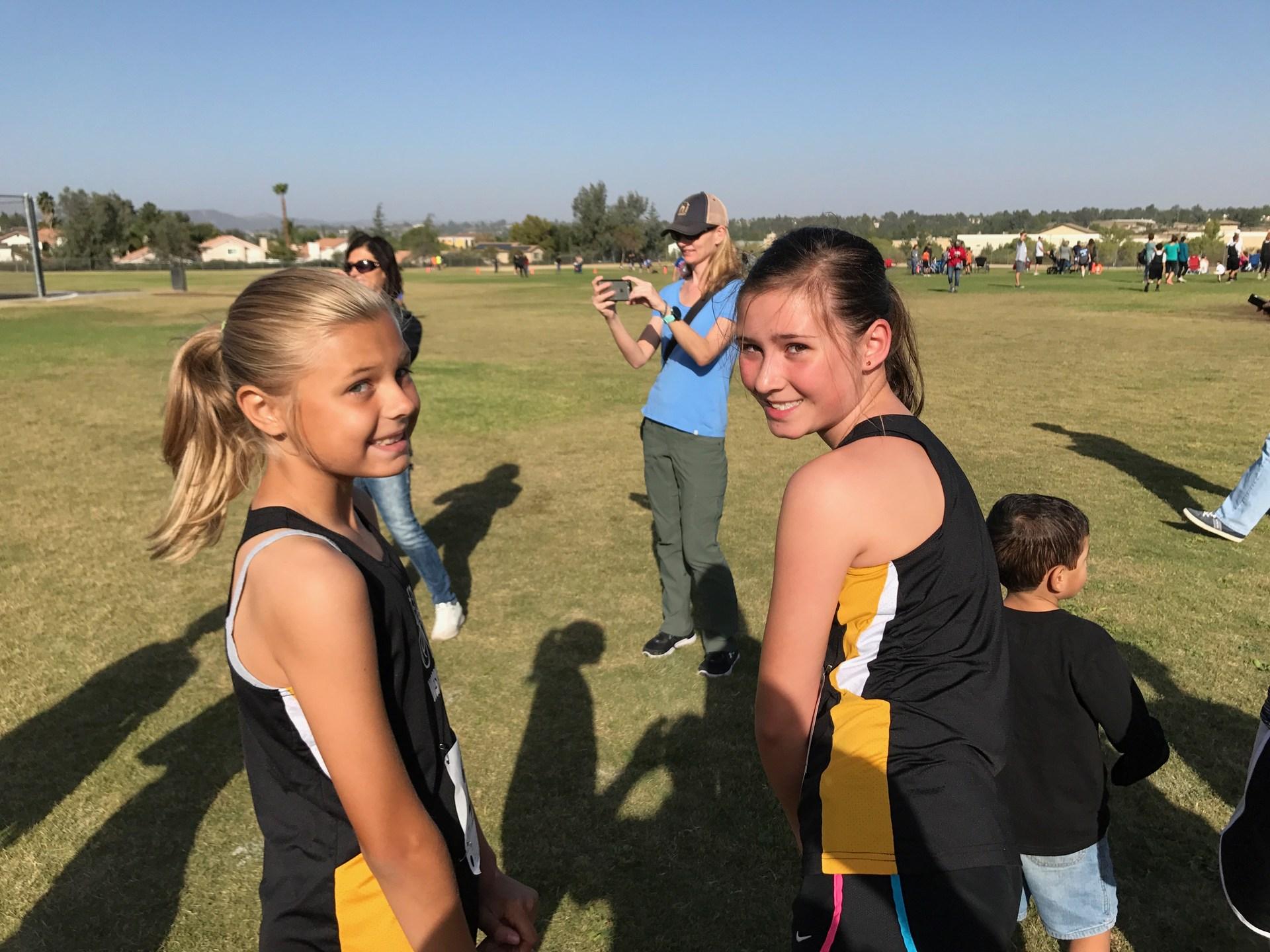 Brittany and Samara ready to go at Vail Ranch.