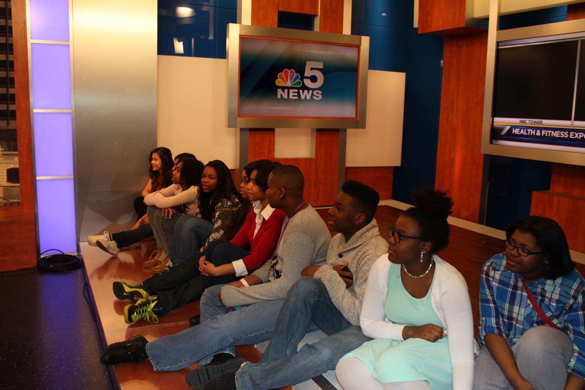 Media Arts Students at NBC Studio
