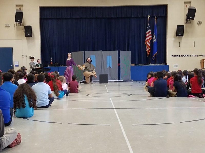 Uconn's Opera program visited WCS to perform Jack and the Beanstalk for our students. Thumbnail Image