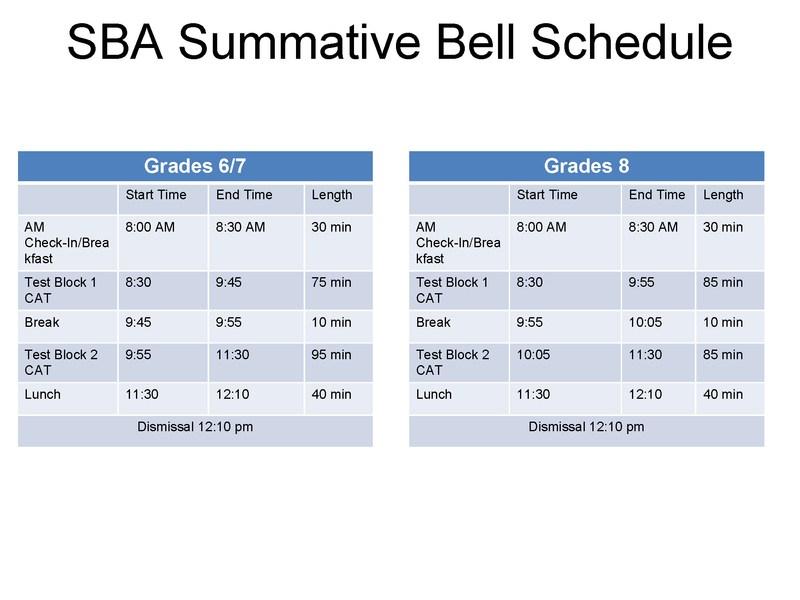 SBA Schedule Featured Photo