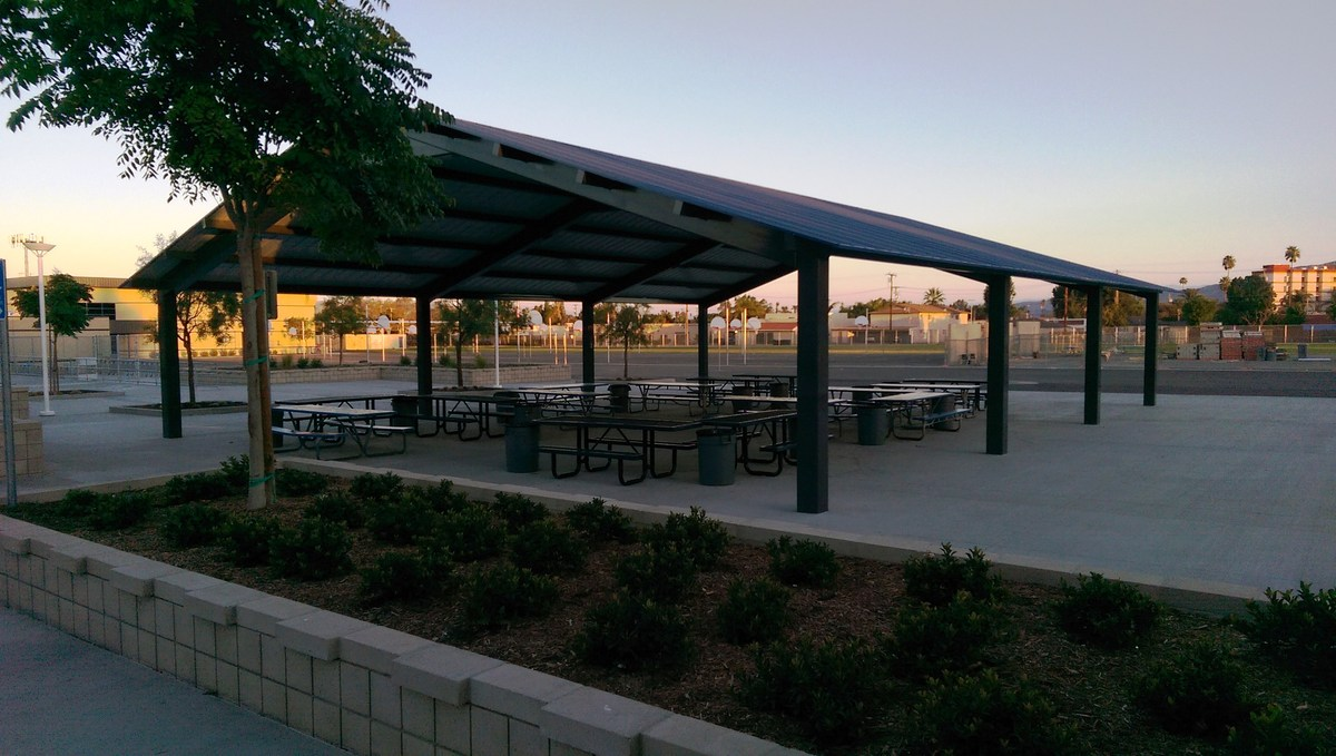 Two new lunch shelters constructed.