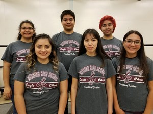 Group picture of the MHS choir members who are advancing to state solo and ensemble