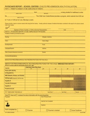 image of school readiness center application