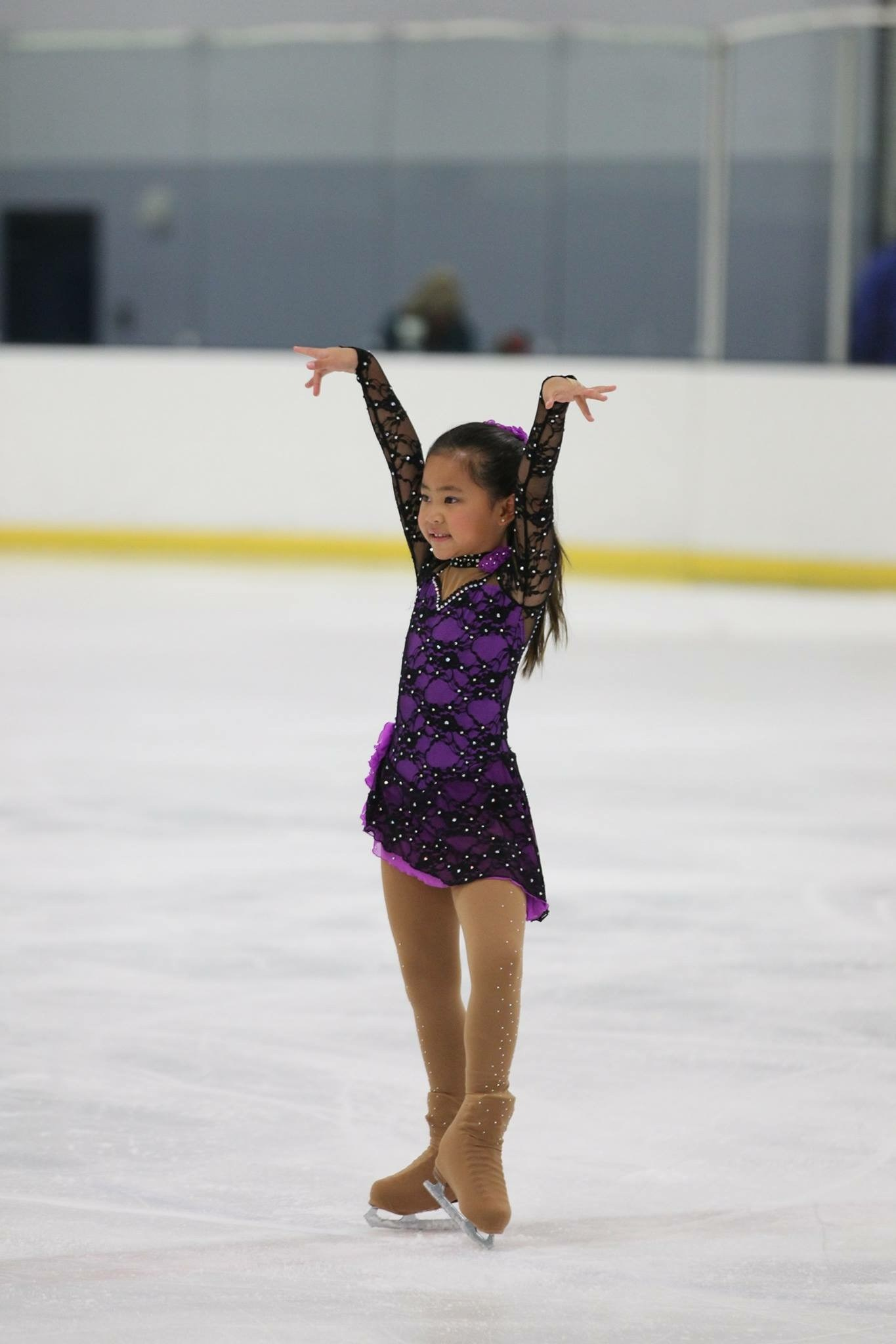 Student ice skating