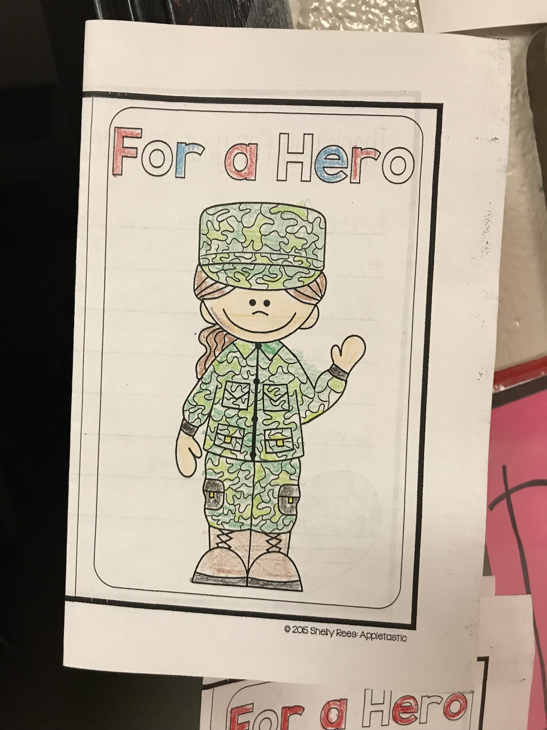 Students made cards for every veteran in attendance