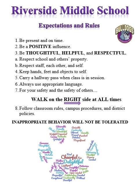 School Hallway Expectations