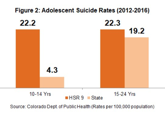 graph about youth suicide data