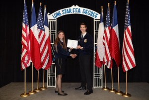 Kassi Koy receiving FFA Degree