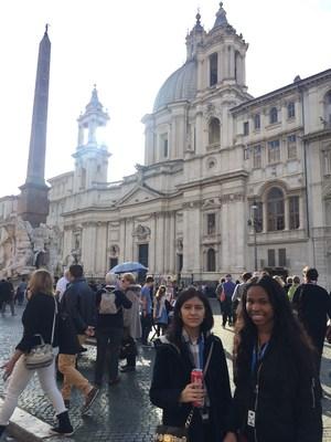 Nakiya and Gladys Exploring Rome - Piazza Novona.JPG