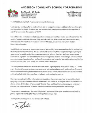 Letter from ACS