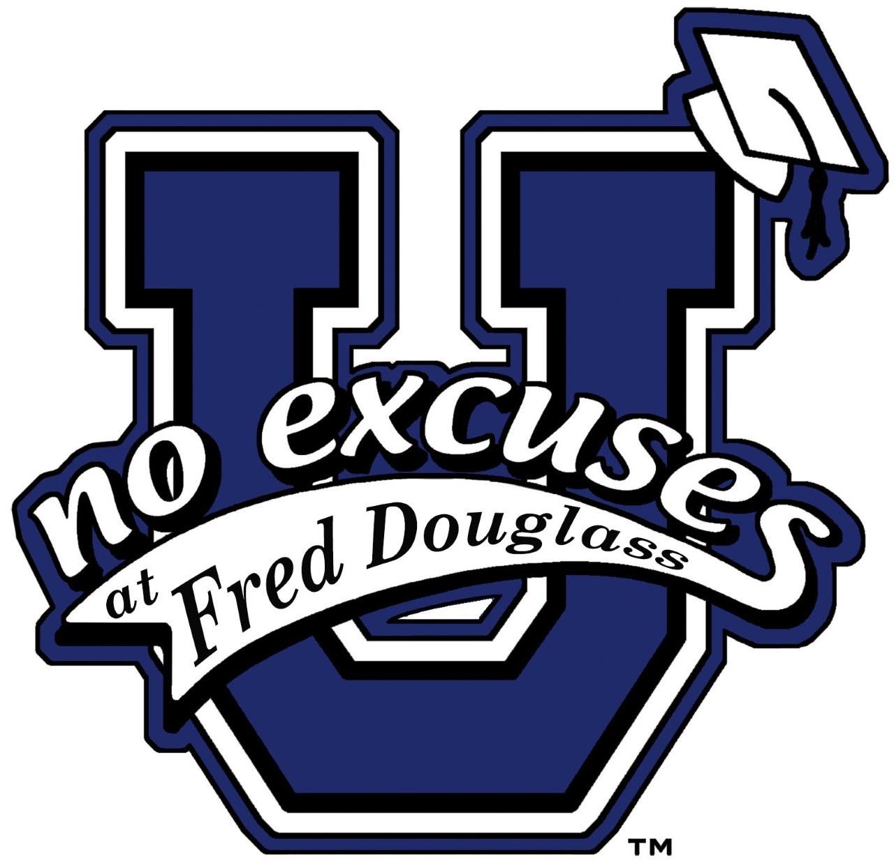fred douglass no excuses logo