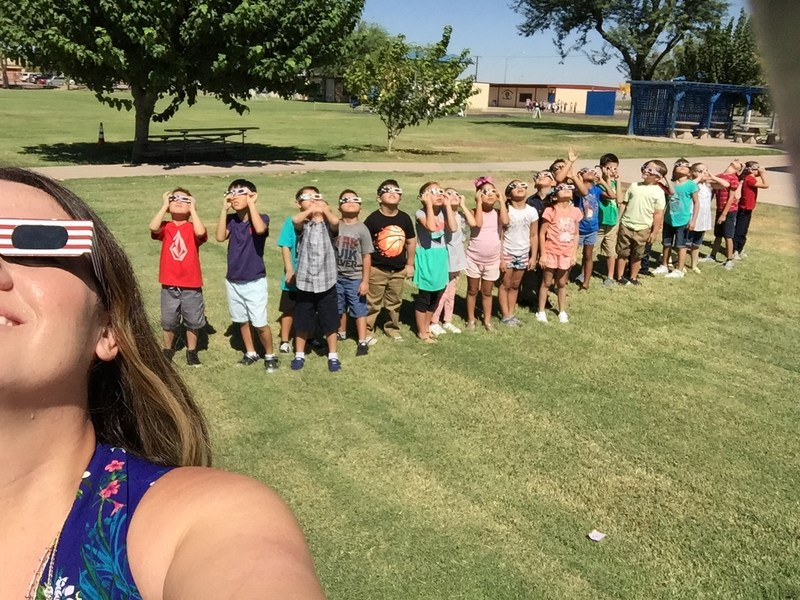 McCabe and Corfman Students Safely View the 2017 Solar Eclipse! Thumbnail Image