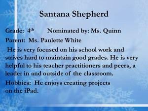scholar Santana Shepherd