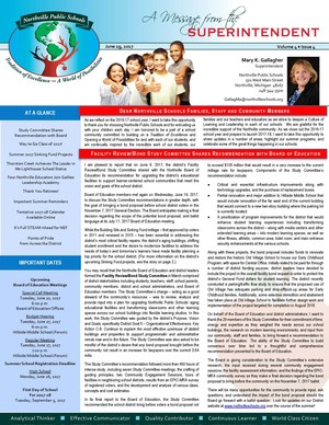 Picture of 6-19-17 Message from Supt. Newsletter