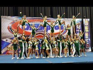 Tahquitz's cheer team after winning State in their division.