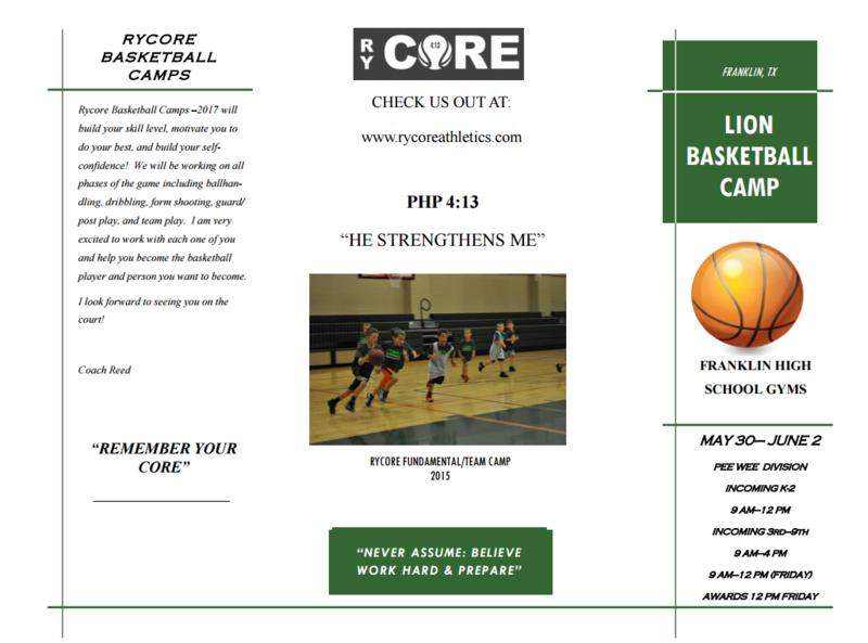 Rycore Basketball Camp Thumbnail Image