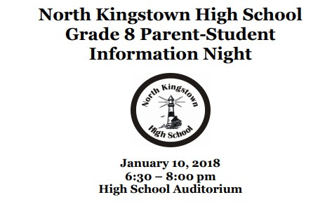 North Kingstown High School Parent/Student Night for 8th Grade Featured Photo
