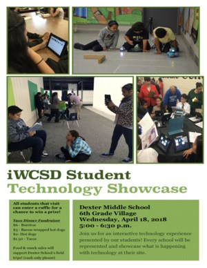 iWCSD Student Technology Showcase Flyer