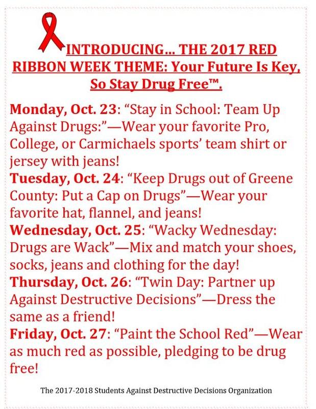 Support Red Ribbon Week Oct.23-27 Thumbnail Image