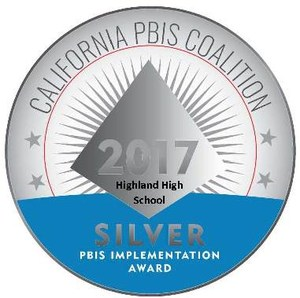 Highland High School is recognized for their efforts towards Positive Behavioral Interventions and Supports for students.