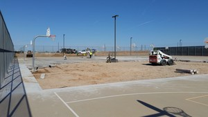sand volleyball construction