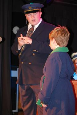 Mitchell  Riley as the Conductor and Henry Cowsert as The Boy.JPG