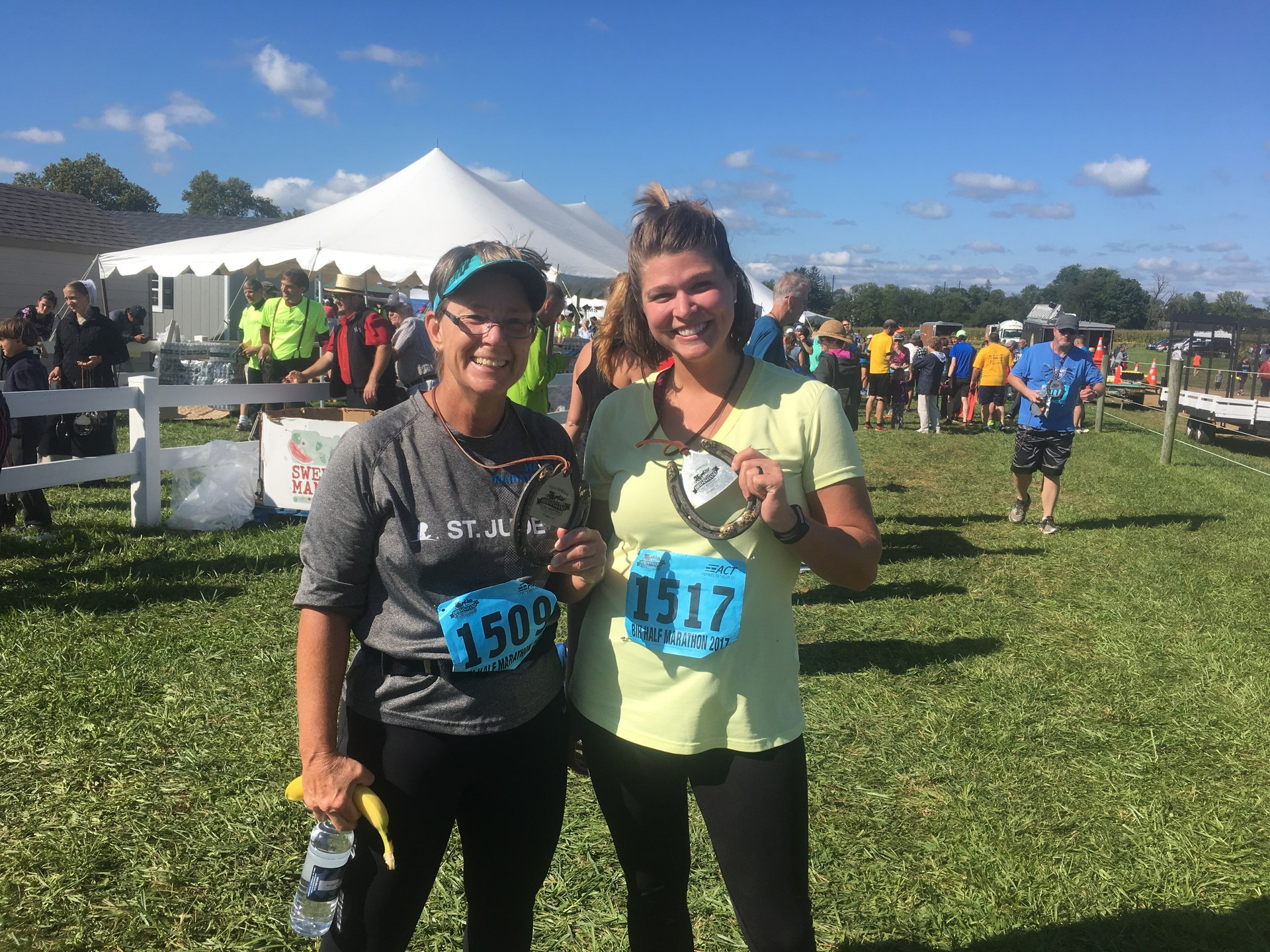 Janell Hill and I ran the half-marathon Sept. 9 in Bird-in-Hand, Pennsylvania.