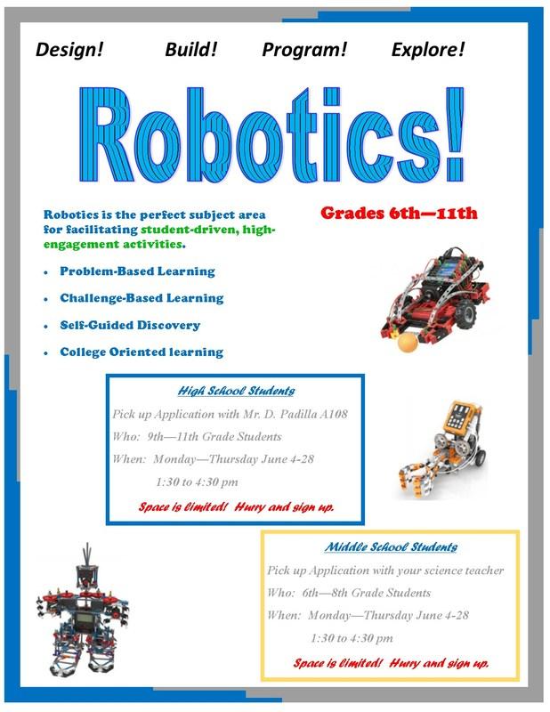 JBMS and MAECHS Summer Robotics Program Featured Photo