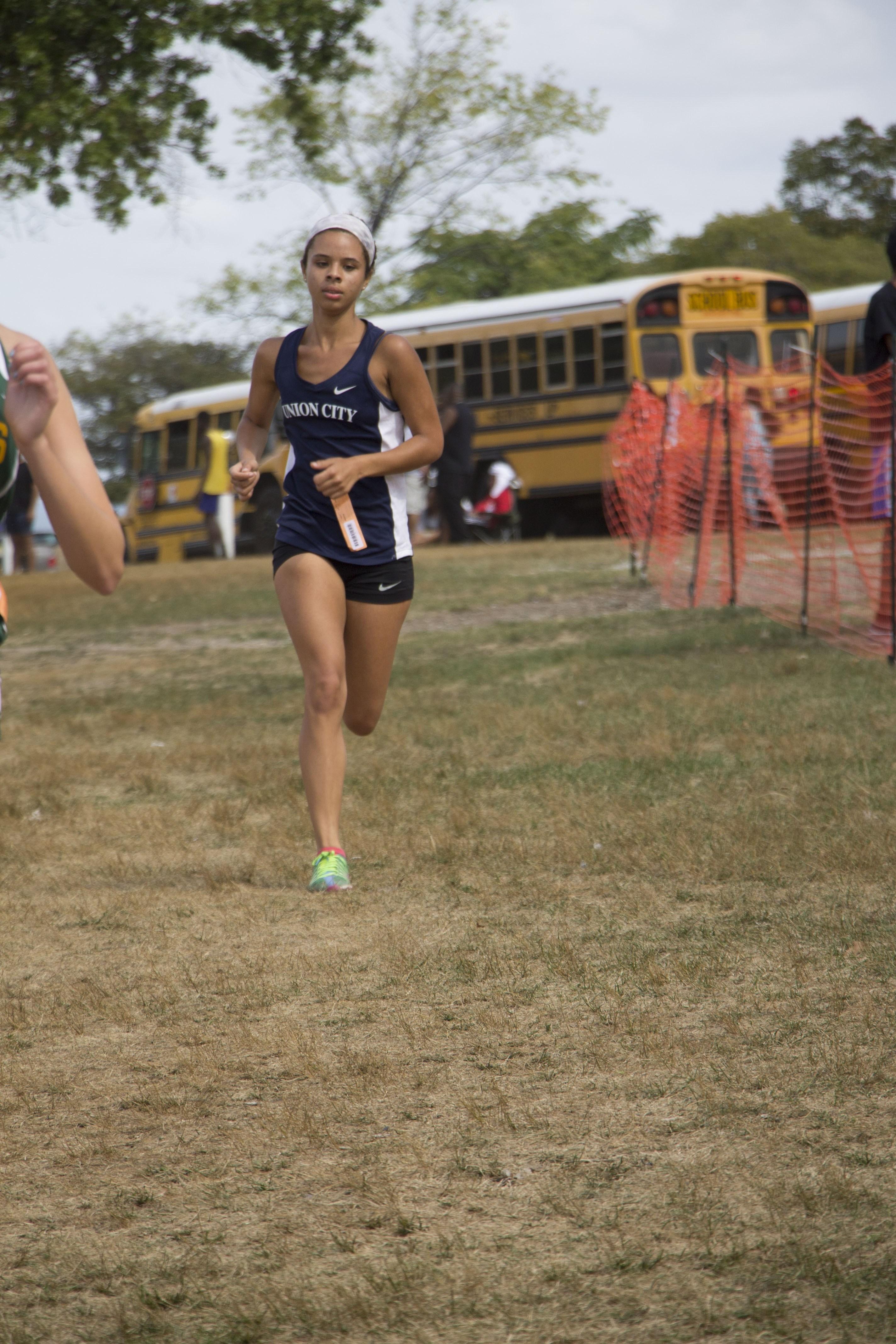 team member running