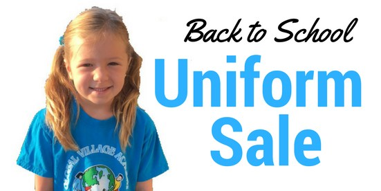 gva female student with the words Back to School Uniform Sale