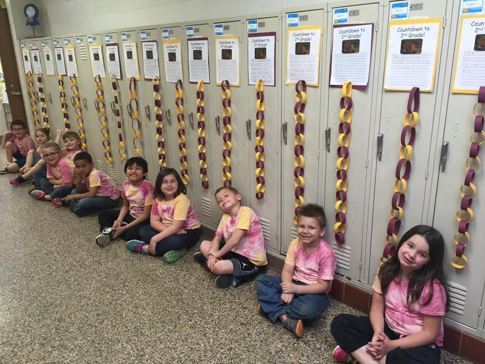 Merritt Elementary students during spirit week