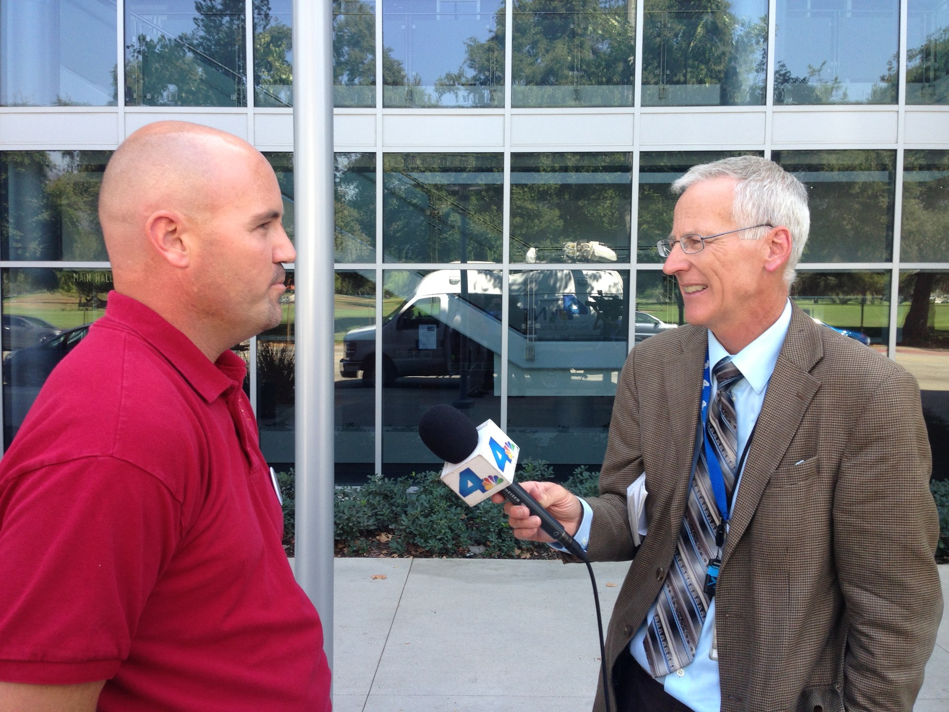 Reporter with Dr. Brent Forsee