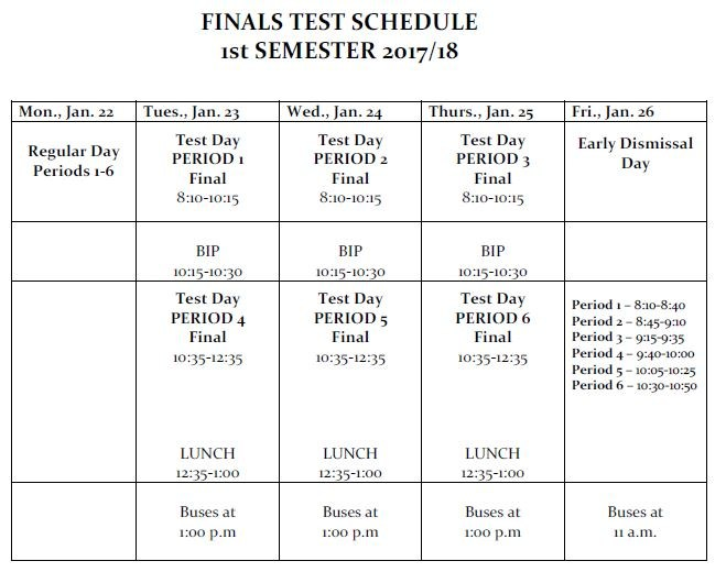 semester final period 6 Semester dates for summer term courses can be found on the summer term may 6, 2018: study period: may 7, 2018: final exams begin: may 11, 2018: final exams end.
