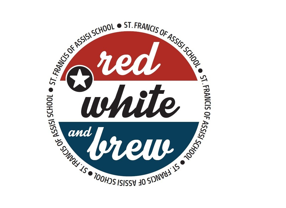 Red White & Brew logo red and blue