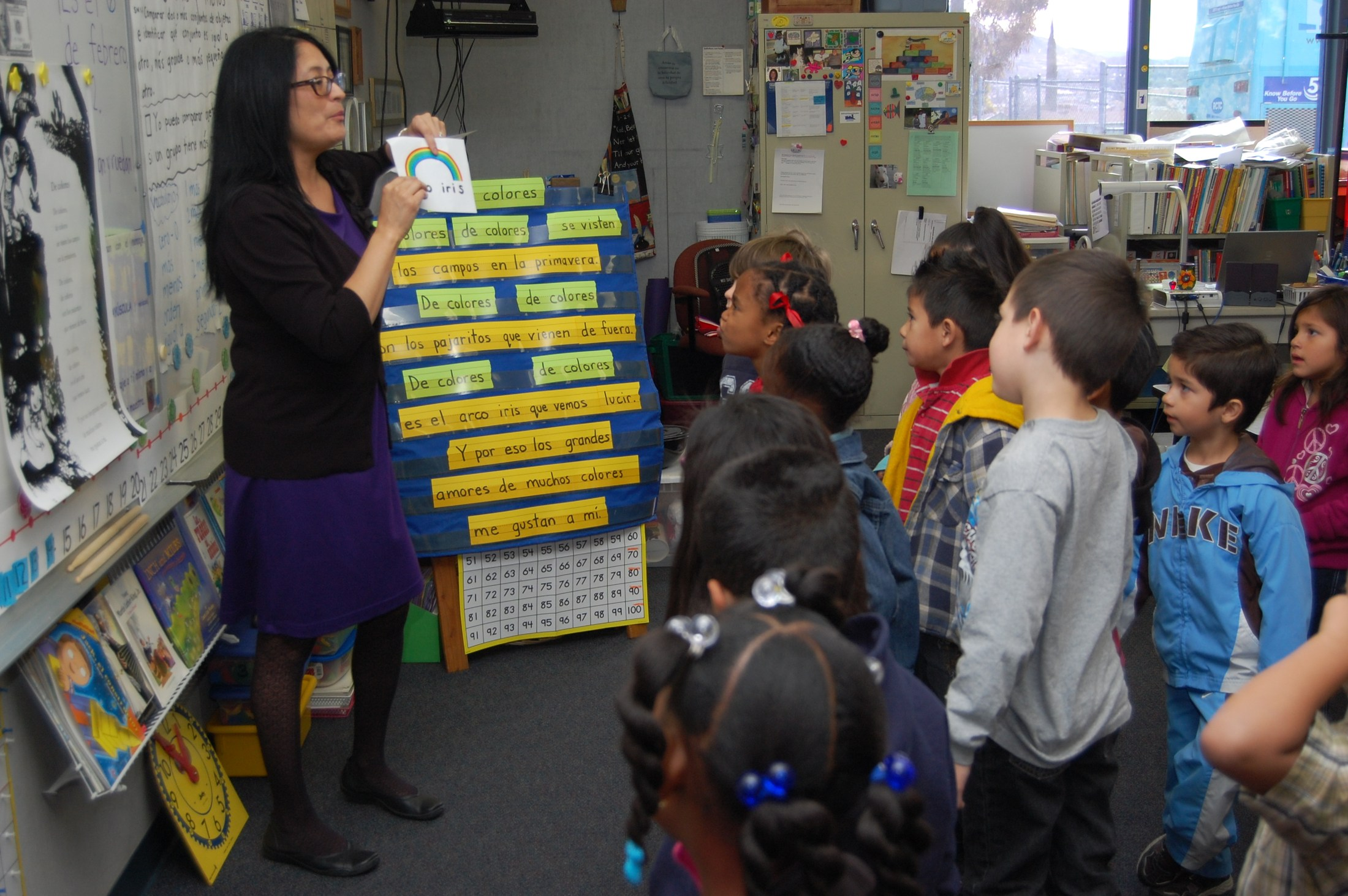 a Dual Immersion classroom during lesson time