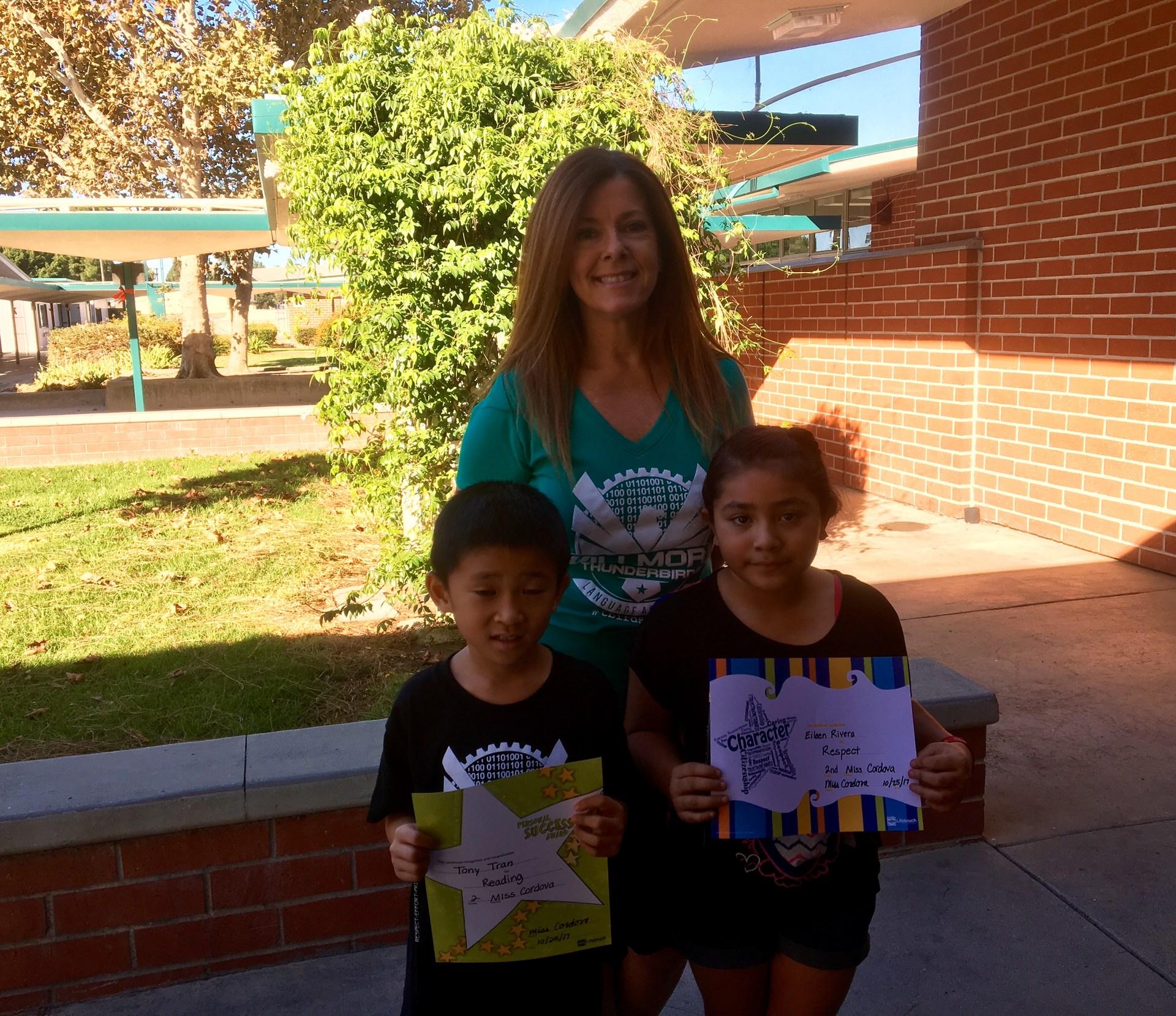 Ms. Cordova's October Honorees