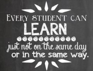 Every Student Can Learn just not on the same day or in the same way