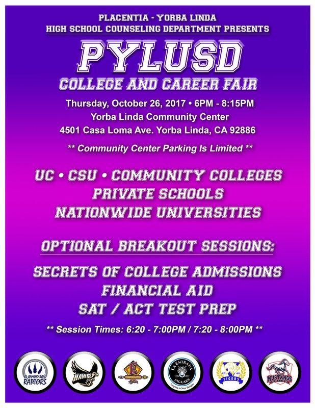 PYLUSD College and Career Fair- October 26, 2017 Thumbnail Image