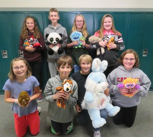 Teen Leadership students collect stuffed animals to donate to children in stressful situations.