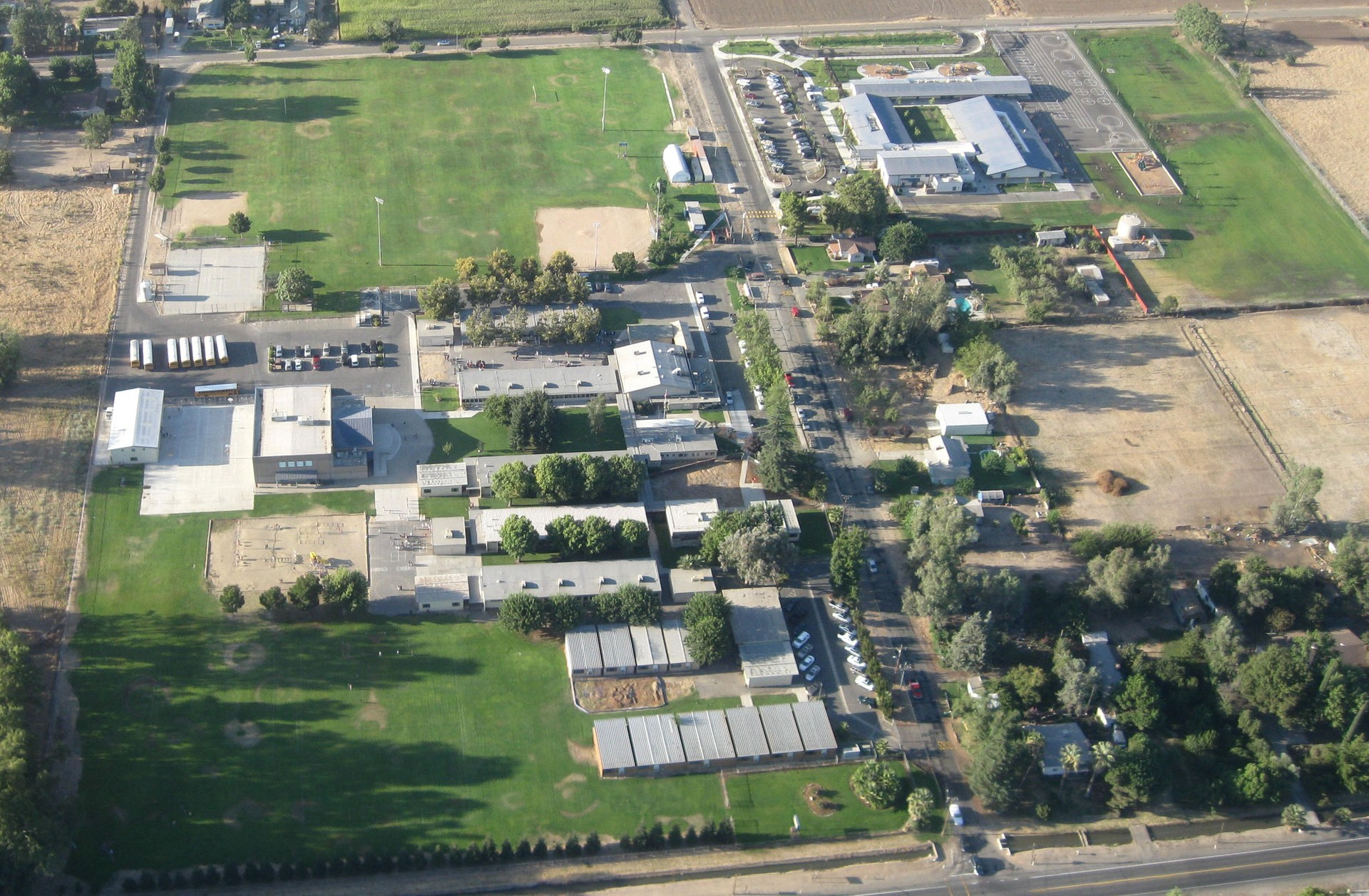 Aerial view of school