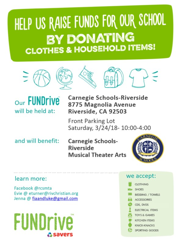 Carnegie MTA Clothing Drive! Featured Photo