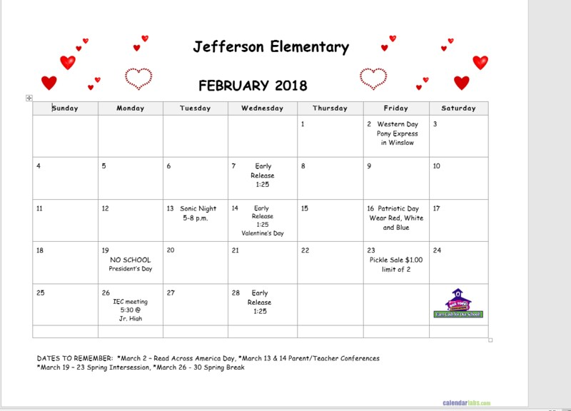 February Calendar Featured Photo