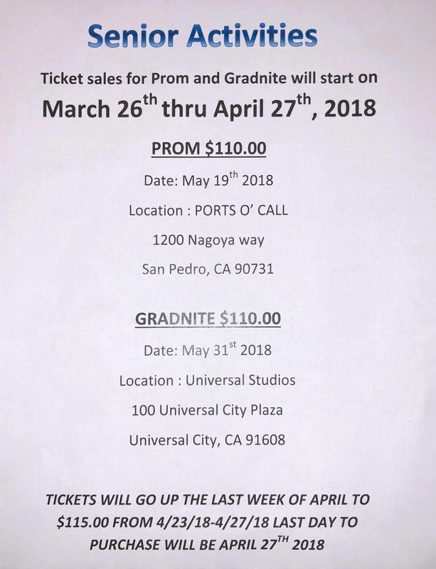 Yearbooks, Prom and Grad Nite Tickets On Sale Now!!! Featured Photo