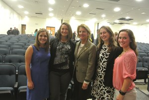 BUHS Student Body Officers with US Senator Shelley Moore Capito.
